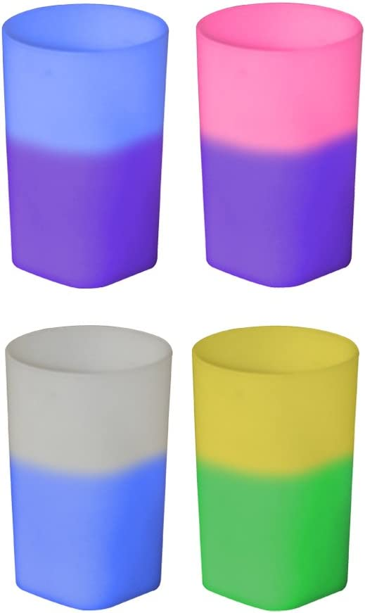 2oz Color Changing Mood Plastic Shot Glass, Set of 12, Assorted Colors - MADE IN USA