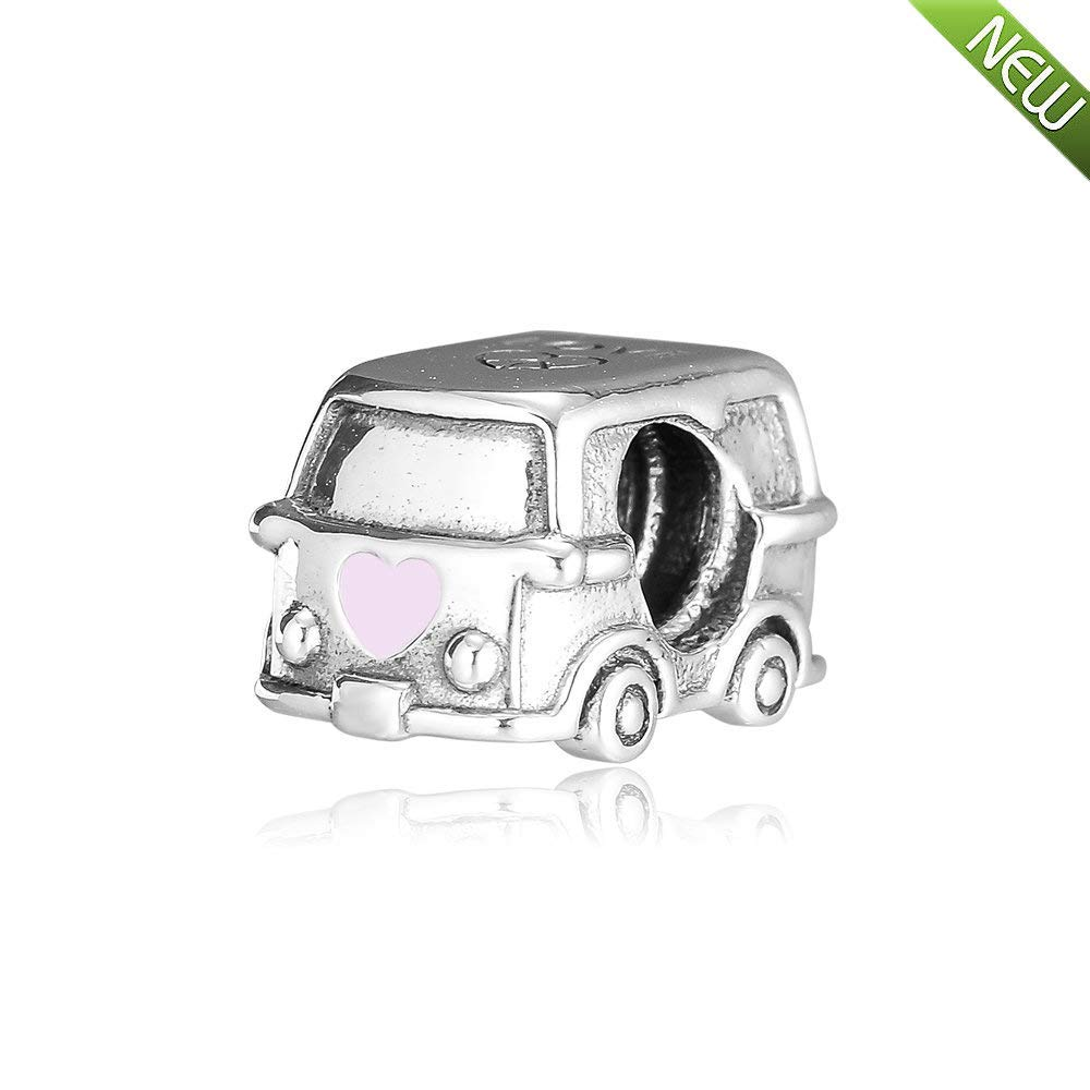 STERLING SILVER MOTOR HOME CHARM WITH ONE SPLIT RING