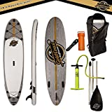 Gold Coast Surfboards - 10'6 Aqua Discover ISUP Package - Inflatable Stand Up Paddle Board 6'' Thick, Inflatable Paddle Board Floating Paddle, Pump, Leash, Fins, & Back Pack +2 YEAR WARRANTY