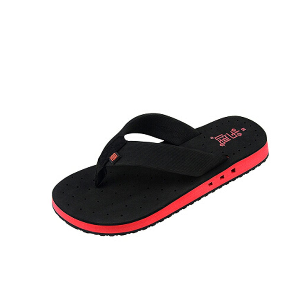Breathable Sport Summer Casual Sport Breathable Water Shoes, Men's Sandal Men's Waterproof and Anti-Skid Wet Flip-Flops (24.5-27cm) Summer Beach Shoes. (Color : Black, Size : 9 US) B07D1M7WJD Slippers 485e11