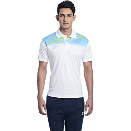5ba08ec19c3 Buy Shiv Naresh SNTS 948 Polyester Polo Neck T-Shirt