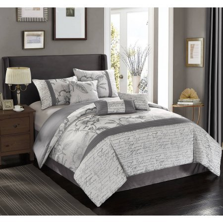 Better Homes And Garden Silver Script 7 Piece Comforter Set, Beautiful And  Chic,