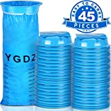 """Product DescriptionBlue emesis - vomit bag """"YGDZ"""" 1000Ml Qty of 45, eliminate exposure to vomit, helps eliminate odors, handy for use with kids and pets, too, convenient closure system - twist, and secure bag into notched ringPackage Include:45x1000M..."""