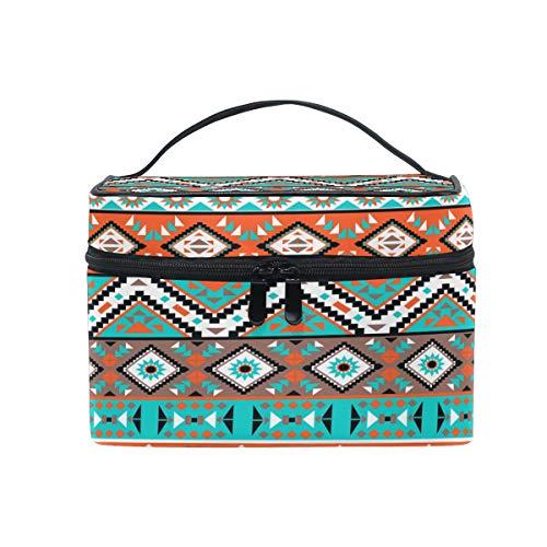 Tribal Makeup - JOKERR Makeup Bag, Tribal Aztec Geometric