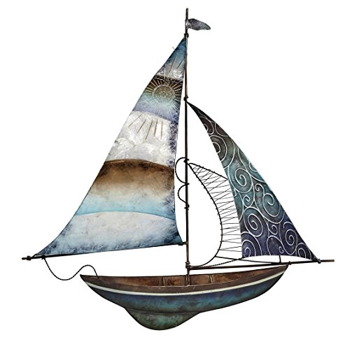 Boat Metal Sculpture (Metal Sailboat Wall Decor 22