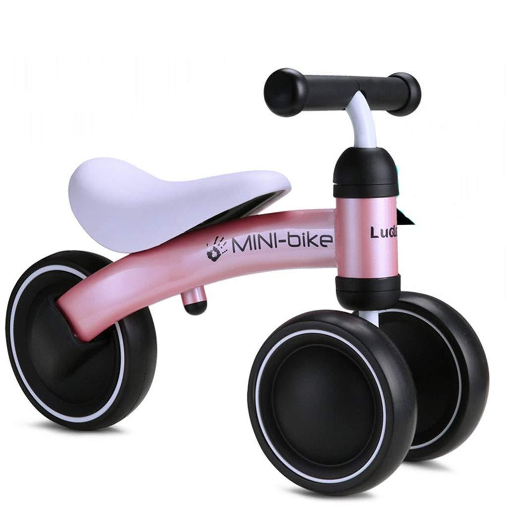 ペダルなし自転車 子供用 幼児用 幼児の小型バランスのバイク - 男の子の女の子の安全な乗馬のおもちゃ、1/2才のための誕生日プレゼントのための赤ん坊の自転車、青/ピンク/赤 (色 : Red) B07PH4JK2X Pink Pink