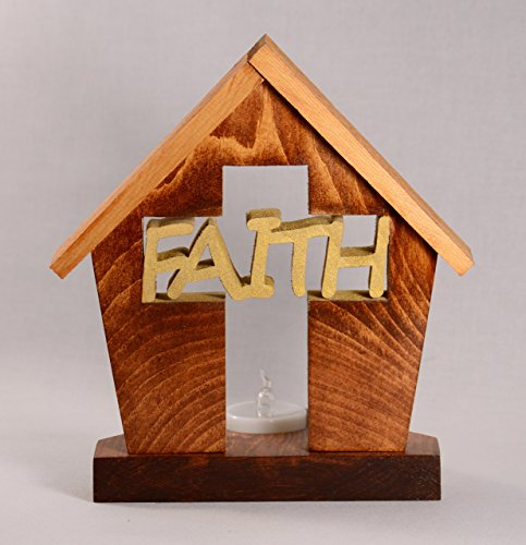 FAITH•CROSS•PRAY•TEA LIGHT○Religion Gift Idea for Him/Her○Tea Candle Holder○Love○Encouragement○Christianity○DogPound Creations by DogPoundCreations