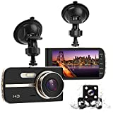 DONGKER FHD 1080P Dual Dash Cam 4.0 HD IPS Screen