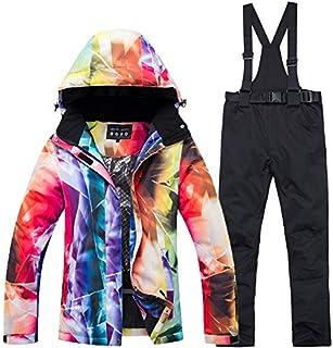 JAYLONG Inverno Caldo Tute Sci includono Cappotto & Pantaloni, Prova a Freddo Addensare Traspirante Impermeabile Giacche Isolate Pantaloni Set per Uomo e Donna