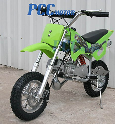 DB49A 49CC 50CC 2-STROKE GAS MOTOR MINI DIRT PIT BIKE (Green)