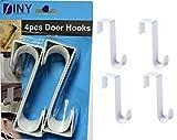 Over The Door Hooks Hangers, Laundry Hanger White