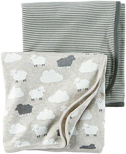 Carters Babysoft Swaddle Blankets Grey