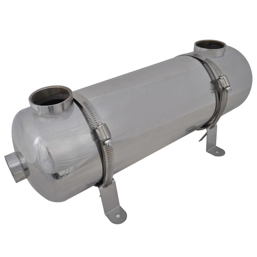 vidaXL Intercambiador Calor Calentador Piscina 28 kW Calefactor Agua Jacuzzi