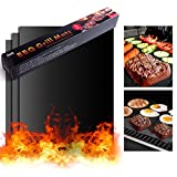 "BBQ/Barbecue Grill Mats 16""x13""  Set of 3 Heavy Duty Non-stick"