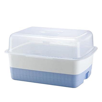 jii2030shann cubertería caja de drenaje estante para platos de platos cuencos de almacenamiento Caja impermeable caja