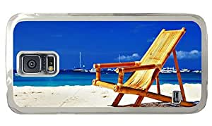 Hipster top Samsung Galaxy S5 Case Beach Bamboo Chair PC Transparent for Samsung S5
