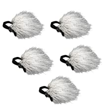 Movo WS10n Universal Furry Outdoor Microphone Windscreen Muff for All Lavalier Microphones Including Movo, Shure, Rode, Sony, Audio-Technica and More! (5 PACK)