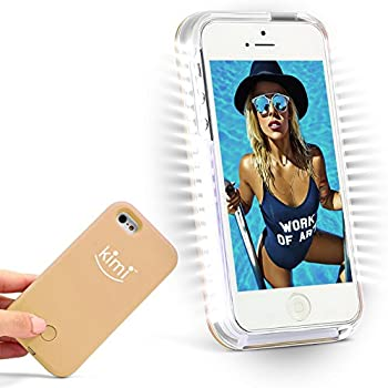 KIMI Selfie Light Iphone 6 6s Case, Fashion Luxury Flash Mobile Led Cover, Increase Facial Light, Luminous Cell Phone Light Up Bumper, Protective Shell