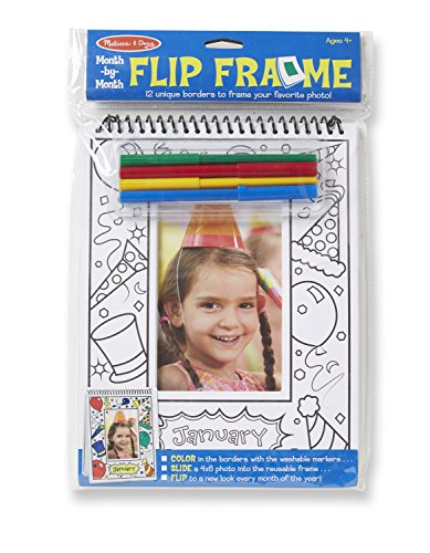 Melissa & Doug Month-by-Month Flip Frame - 12 Photo Borders (4 x 6 inches), 4 (Melissa & Doug Border)