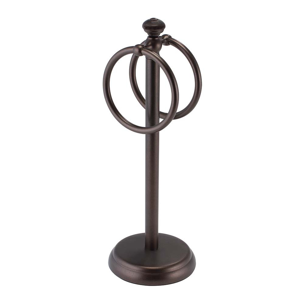 InterDesign York Vanity Metal Ring Bath Hand Towel Holder, Bronze by InterDesign
