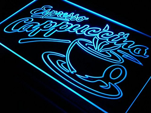 Cappuccino Led Sign (OPEN Espresso Cappuccino Coffee Cafe LED Sign Night Light i220-b(c))