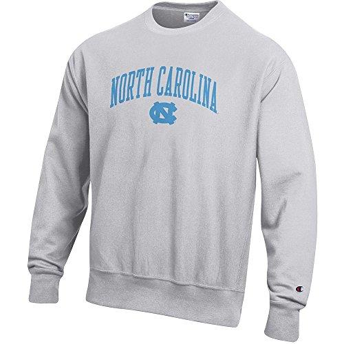 Elite Fan Shop North Carolina Tar Heels Reverse Weave Crewneck Sweatshirt Gray - L ()