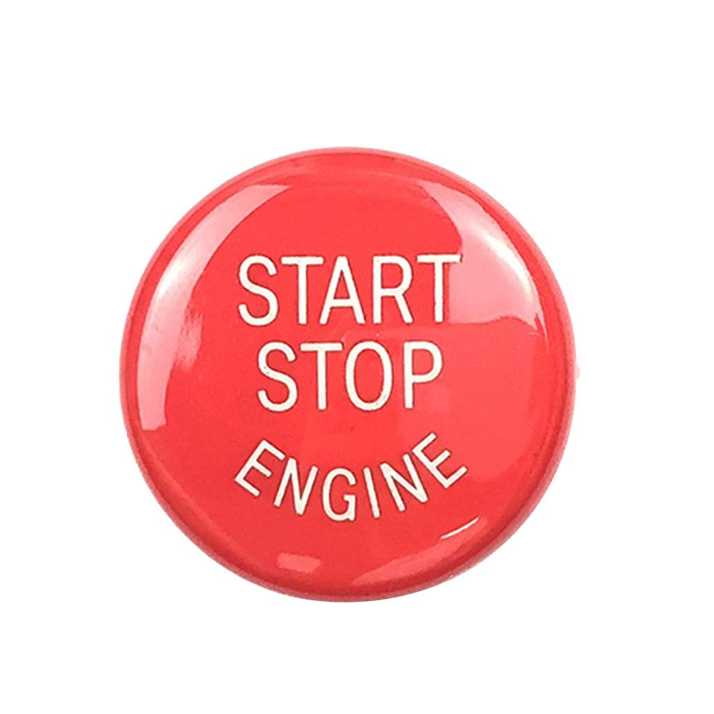MagiDeal 0.98'' Car Engine Start Stop Button Cover Trim Replaces for BMW E Chassis Red non-brand