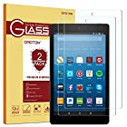 [2-Pack] All-New Fire HD 8 Screen Protector (2017 Release) - OMOTON Tempered Glass
