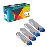Do it Wiser Compatible Toner Cartridges Set For Oki Okidata C9600 C9600 HDN C9600 N C9650 HDN C9650 N C9800 HDN C9800 HN C9800 MFP Type C7 - 42918904 42918903 42918902 42918901 - 4 Pack