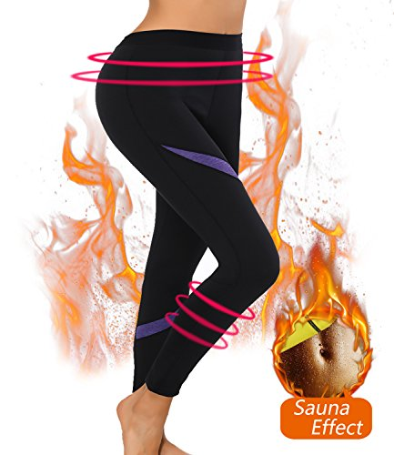 Thermo Neoprene Sexywg Sauna Snellente pantaloni Tuta Nero Shapers Body Hot In Da Rq1TSq