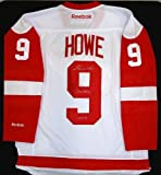 Gordie Howe Autographed White Replica Red Wings Jersey