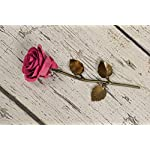 Personalized-Gift-Hand-Forged-Wrought-Iron-Pink-Metal-Rose-Valentines-Day-Gift