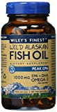 Wileys Finest Wild Alaskan Fish Oil PEAK EPA 1250 MG Softgels