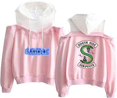 Riverdale South Side Serpent Sweat Capuche Manteau Pull Hip Hop Chemise Blouse Haut Tunique Jumper Top Pullover Sweatshirt