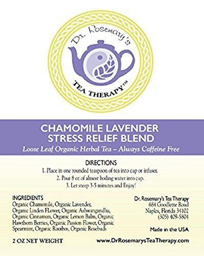 photo Wallpaper of Dr. Rosemary's Tea Therapy-Chamomile Lavender Stress Relief Blend   Loose Leaf-