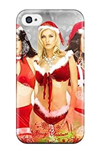 Hot JaYKVIR3690MlCFH Case Cover Protector For Iphone 4/4s- Attractive Christmas Santa Claus Girls Cartoon