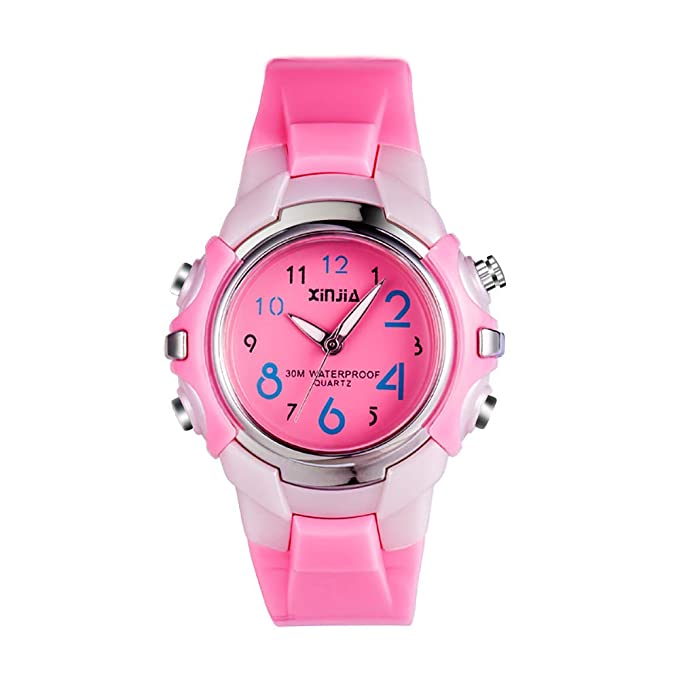 Yokgrass Kids Watches Silicone Waterproof Children Analog Watches Toddler Wrist Watch Time Teacher for Ages 3-10 Girls Little Child