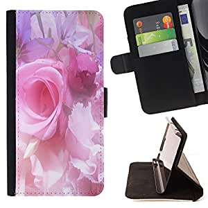 - Rose Pink Flower Romantic Love Heart - - Monedero pared Design Premium cuero del tir?n magn?tico delgado del caso de la cubierta pata de ca FOR Sony Xperia Z3 D6603 Funny House