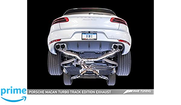 Amazon.com: AWE Tuning 3020-42040 Porsche Macan Track Edition Exhaust System (Chrome Silver 102mm Tips): Automotive