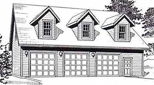 Garage Plans: Three Car Garage With Loft Apartment (truss version) - Plan - Plans Three