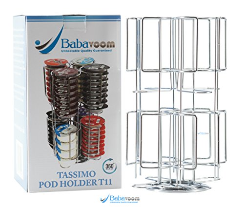 -[ Tassimo Pod Holder | Holds 64 Pods on a ROTATING Base | Unbeatable Quality Guaranteed Babavoom&r