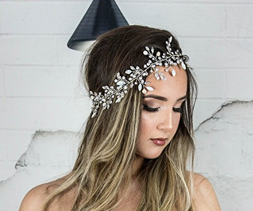 Vine Headpiece , Swarovski Bridal Headband, Wedding Hair Wreath, Beach Hair Accessories, Boho hairpiece by Hair Floaters