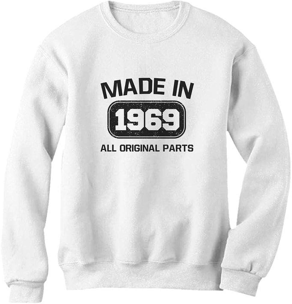 Tstars 50th Birthday Made in 1969 All Original Parts Sweatshirt