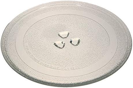 Plato de cristal de 24,5 cm para hornos microondas DeLonghi MW380 ...