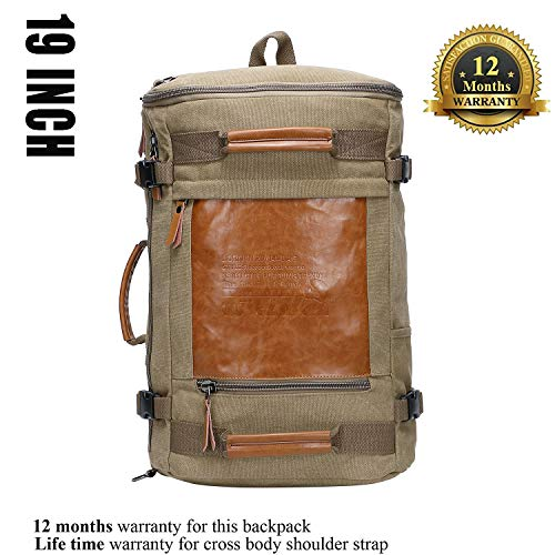 e3601441a Mua WITZMAN Men Vintage Canvas Rucksack Travel Duffel Backpack Retro Hiking  Bag từ amazon.com giá rẻ nhất Việt Nam   Amazon - Ebay   Amabuy.vn
