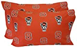 College Covers North Carolina State Wolfpack Pillowcase Pair Solid, King, Includes 2 King Pillowcases