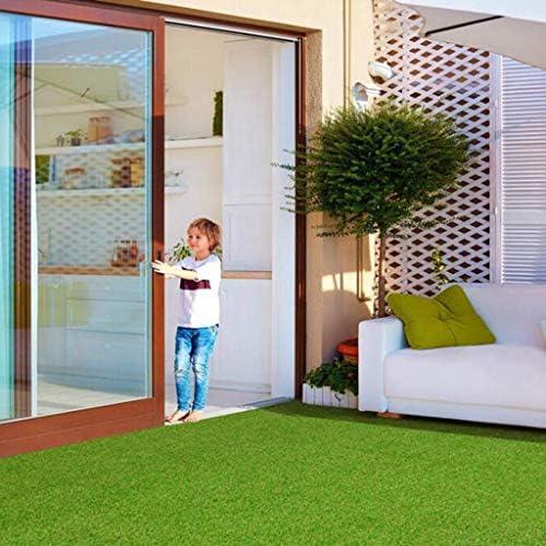 XEWNEG 15mmの緑の人工芝、暗号化された防水滑り止めの偽の芝生のペットマット、切断することができます、屋内および屋外の装飾的なマットのため、幅2m (Size : 2x20M)