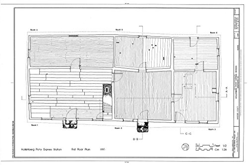 Structural Drawing HABS KANS,101-HAN.V,1- (sheet 2 of 10) - Hollenberg Pony Express Station, Route 243, 6.9 miles south of Nebraska border, Hanover, Washington County, KS 66in x 44in (Pony Express Route)