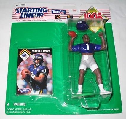 Starting Lineup 1995 NFL Warren Moon figurine and card