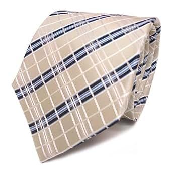 TigerTie - Corbata - Rayas - para hombre blanco blanco Talla única